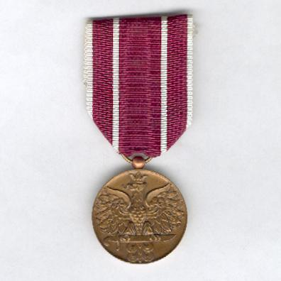Army Medal for the 1939-1945 War (Medal Wojska za Wojnę 1939-1945) by Arthus Bertrand & Cie. of Paris