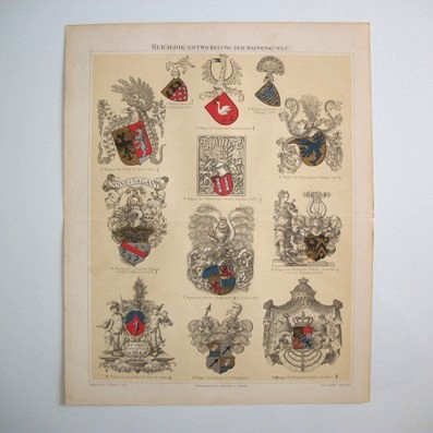 Heraldry: The Evolution of Heraldic Art (Heraldik: Die Entwickelung der Wappenkunst) from 1300 to Modern Times, 1896