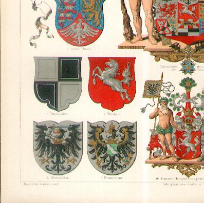 Prussia: Arms of the Prussian Provinces (Preussische Provinzwappen), 1896