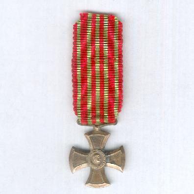 War Cross (Medalha da Cruz de Guerra) 1917, miniature