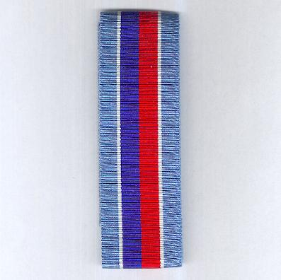 UNITED NATIONS. Ribbon for the United Nations Mission in Haiti (UNMIH), Support Mission in Haiti (UNSMIH), Transition Mission in Haiti (UNTMIH), Civilian Police Mission in Haiti (MIPONUH) and International Civilian Support Mission in Haiti (MICAH) Medals
