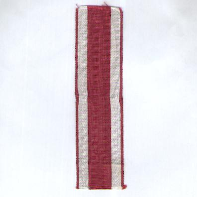 POLAND. Ribbon for the Cross of Valour (Krzyż Walecznych)
