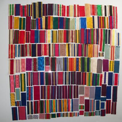 A Collection of 289 Sample Ribbons, mainly British