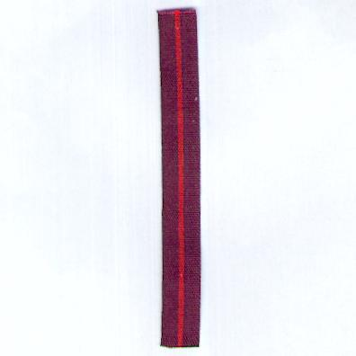 GREAT BRITAIN. Ribbon for the Most Excellent Order of the British Empire, Military, 1st type, 1917-1935, miniature