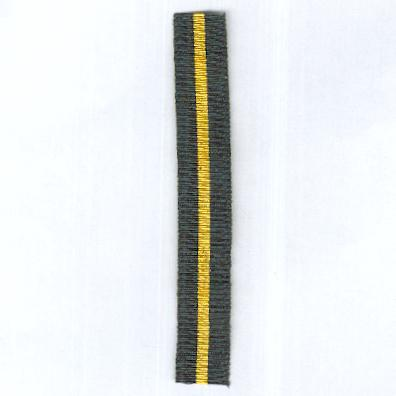 GREAT BRITAIN. Ribbon for the Territorial Force Efficiency Medal, miniature