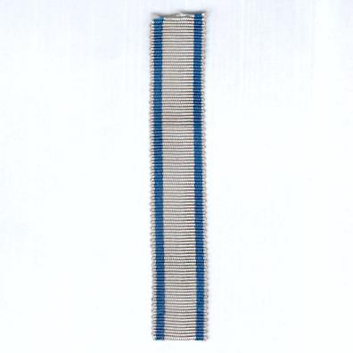 FINLAND. Ribbon for the Medal Commemorative of the 20th Anniversary of the Liberation of Helsinki, 12 April 1918, miniature
