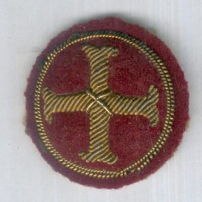 Embroidered Circular Cross Moline (Benedictine Cross) Badge