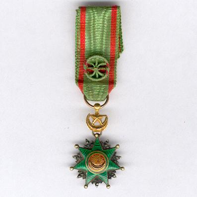Order of Osmania (Nişan-i Osmanî), officer, miniature