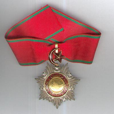 Order of Mejidie (Mecidi Nishani), III class neck badge, with gold centre and suspension