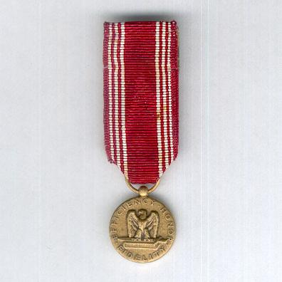Army Good Conduct Medal, miniature