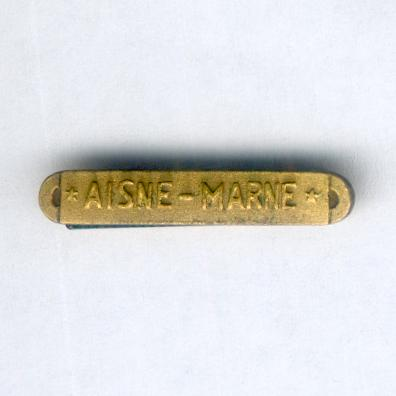 Inter-Allied Victory Medal, United States of America issue, 1917-1918, 'Aisne-Marne' clasp, miniature