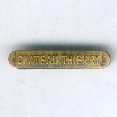 Inter-Allied Victory Medal, United States of America issue, 1917-1918, unofficial 'Chateau Thierry' clasp, miniature