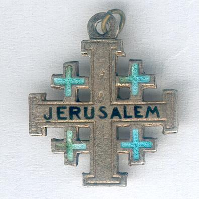 Jerusalem Cross, silver, miniature